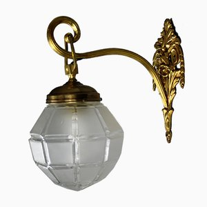 Italian Brass Wall Lamp, 1940s