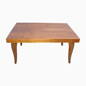 Mesa de madera chapada, años 40