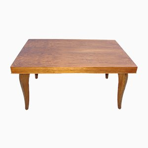 Veneered Wooden Table, 1940s