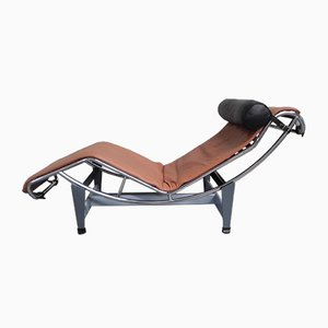 Vintage LC4 Chaise Longue by Le Corbusier, Jeanneret & Perriand for Cassina