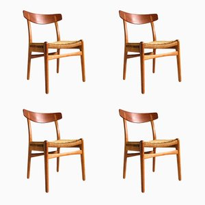 CH23 Chairs by Hans Wegner for Carl Hanson & Søn, 1950s, Set of 4