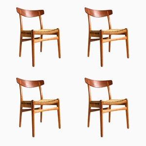 CH23 Stühle von Hans Wegner für Carl Hanson & Son, 1950er, 4er Set