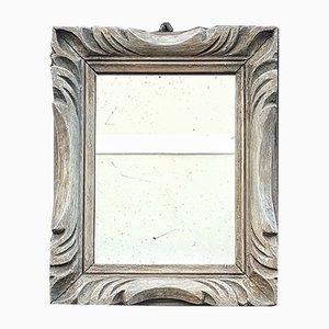 Espejo francés vintage de madera tallada a mano