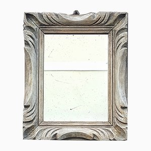 Vintage French Mirror in Hand Carved Wood
