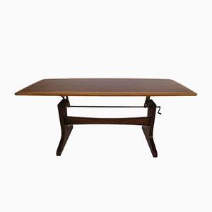 Table Basse Réglable en Hauteur, 1960s
