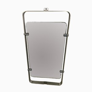 Italian Stainless Steel Framed Mirror, 1970s