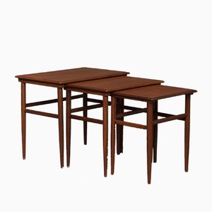 Tables Gigognes en Teck, 1960s, Set de 3
