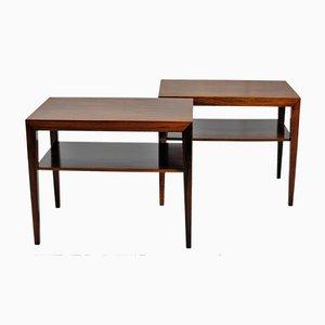 Tavolini in palissandro di Severin Hansen per Haslev Mobelsnedkeri, anni '60