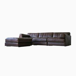 Conjunto de sofá de tres plazas y otomana modelo DS 76 de de Sede, 1975