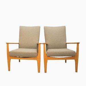 Britische PK988/1023 Armlehnstühle von Parker Knoll, 1960er, 2er Set