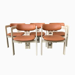 Mid-Century Italian Pamplona Armchairs by Augusto Savini for Pozzi, 1960s, Set of 5
