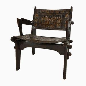 Armlehnstuhl aus Leder von Angel Pazmino für Estillo, 1960er