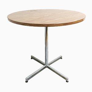 Tavolino in legno di formica e placcato in cromo, anni '70