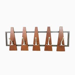Scandinavian Wall Coat Rack, 1960s