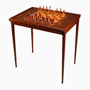 Vintage Scandinavian Games Table in Rio Rosewood and Mahogany