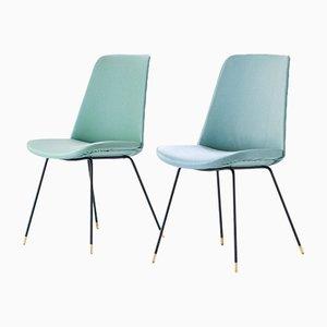 Italienische Mid-Century Lehnstühle, 1950er, 2er Set