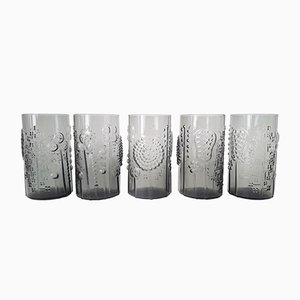 Flora Glasses by Oiva Toikka for Iittala, 1966, Set of 5