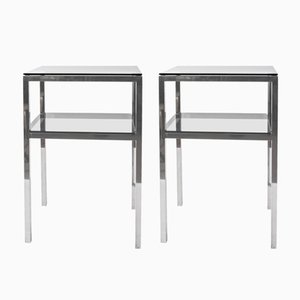 Mid-Century 2-Tiered Accent Tables, 1970s, Set of 2