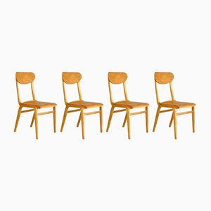 Vintage Chairs by Lygija Marija Koslauskaitė-Stapulionienė for Šiaulių Ventos Baldų Fabrikas, Set of 4