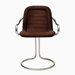 Vintage Tubular Corduroy Side Chair, 1970s
