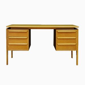 Vintage Ash Veneer Writing Desk from GV Møbler