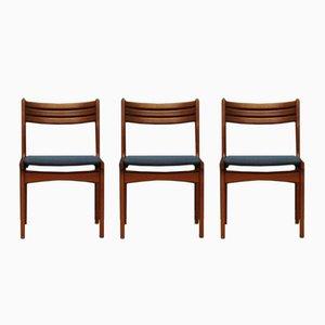 Dänische Vintage Stühle von Johannes Andersen für Uldum Møbelfabrik, 3er Set