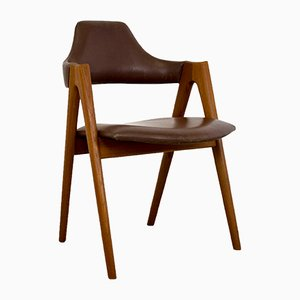 Mid-Century Danish Model No. 2 Teak Compass Chair by Kai Kristiansen for SVA Møbler
