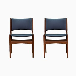 Dänische Vintage Teak Stühle von Johannes Andersen für Uldum Møbelfabrik, 2er Set