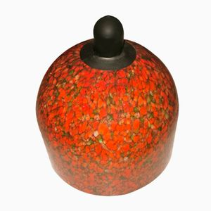 Vintage Mottled Murano Glass Dome-Shaped Pendant
