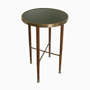 Oak & Brass Side Table, 1900s