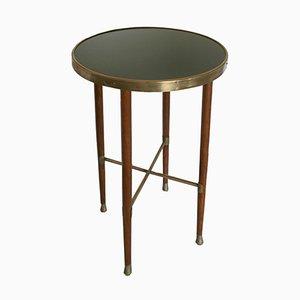 Tavolino in quercia e ottone, inizio XX secolo