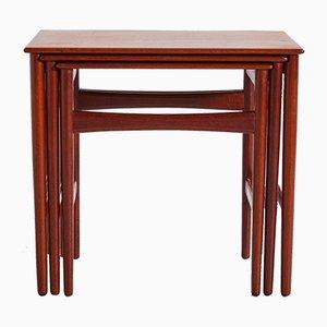 Table Gigogne Modèle AT-40 par Hans J. Wegner pour Andreas Tuck, 1960s