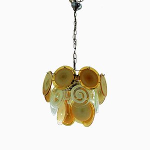 Lámpara colgante Murano Mid-Century de Vistosi