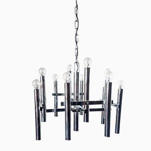 Lámpara de araña vintage de 12 brazos de Gaetano Sciolari
