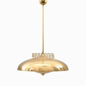 Lampada da soffitto grande ER 160 in ottone di Itsu, anni '60