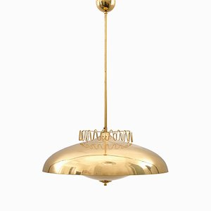 Large Brass ER 160 Ceiling Lamp from Itsu, 1960s