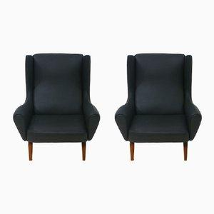 Model 110 Easy Chairs by Illum Wikkelso for Soren Willadsen, 1960s, Set of 2