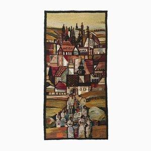 Tapisserie Tours Tissée Main par Piotr Grabowski pour Cepelia, Pologne, 1982