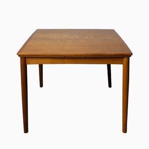 Mesa de comedor danesa extensible de teca de Poul Hundevad para Hundevad & Co, años 60