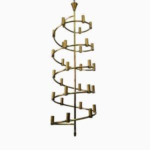 Lámpara de araña sueca de latón, 1965