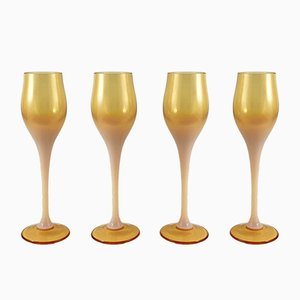 Liqueur Glasses by Zbigniew Horbow for Sudety Glassworks, 1960s, Set of 4