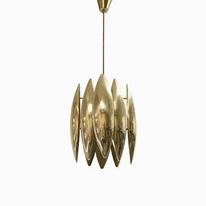Kastor Ceiling Light in Brass by Jo Hammerborg for Fog & Mørup, 1969