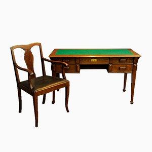 Art Deco Stil Schreibtisch und Stuhl, 1950er