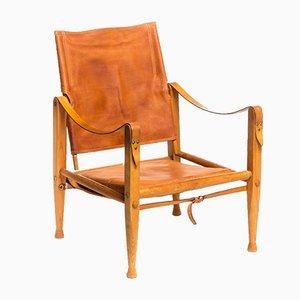Vintage Leather Safari Chair by Kaare Klint for Rud. Rasmussen