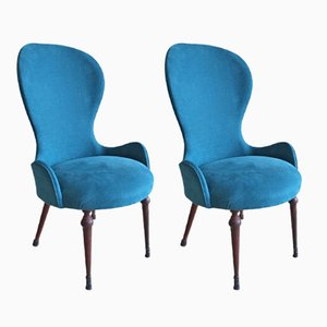 Mid-Century Italian Lounge Chairs, 1940s, Set of 2