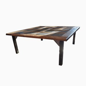 Tavolino da caffè Mid-Century in quercia, anni '50