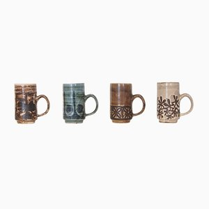Vintage Ceramic Mugs by David Sharp for Rye Pottery