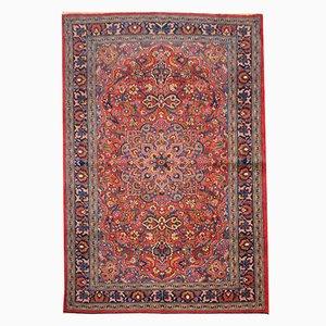 Alfombra de Oriente Medio de lana roja, años 60
