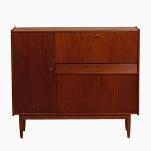 Vintage Teak Cabinet with Secretaire, 1960s