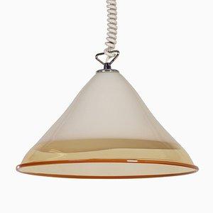 Lámpara colgante de de Renato Toso para Leucos, años 70